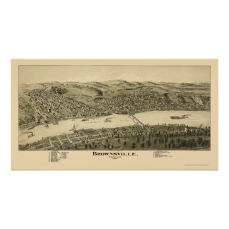 Brownsville, PA Panoramic Map - 1902 Poster
