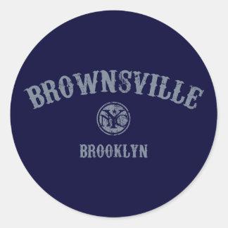 Brownsville Round Sticker