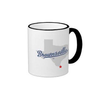 Brownsville Texas TX Shirt Ringer Mug