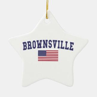 Brownsville US Flag Ceramic Star Decoration