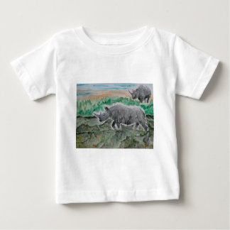 Browsing Rhinos Baby T-Shirt