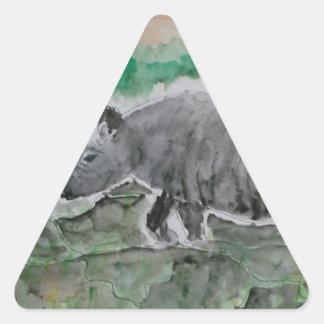 Browsing Rhinos Triangle Sticker