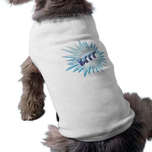 Brrr comic dog clothing