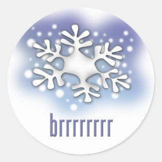 brrrr round sticker