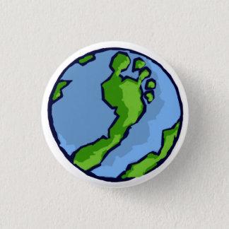 BRS Artsy Green Foot Globe Round 3 Cm Round Badge