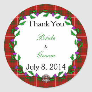 Bruce Celtic Wedding Thank You Round Sticker