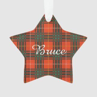Bruce clan Plaid Scottish tartan Ornament