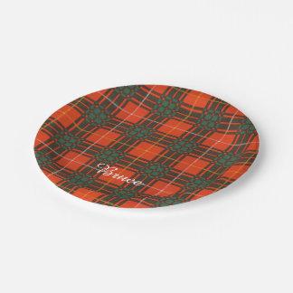 Bruce clan Plaid Scottish tartan Paper Plate