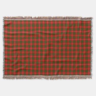 Bruce clan tartan red green plaid throw blanket