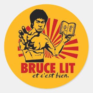 Bruce Lit Round Sticker