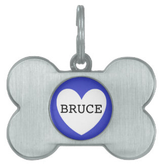 ❤️ BRUCE pet tag by DAL