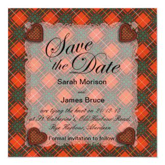 Bruce Scottish clan tartan - Plaid Card