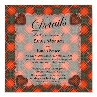 "Bruce Scottish clan tartan - Plaid 5.25"" Square Invitation Card"