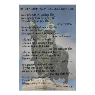 Bruce's address at Bannockburn 1314 Poster