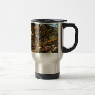 Bruegel Netherlandish Proverbs Stainless Steel Travel Mug