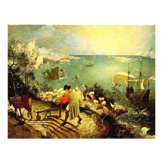 Bruegel s Landscape with the Fall of Icarus - 1558 Custom Flyer