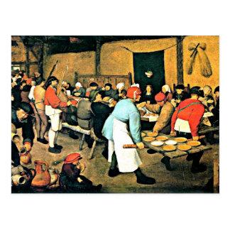 Bruegel the Elder-Peasant Wedding-1568 Postcard