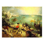 Bruegel's Landscape with the Fall of Icarus - 1558 Custom Flyer