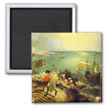 Bruegel's Landscape with the Fall of Icarus - 1558 Square Magnet