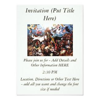 "Bruegel's ""The Fall Of The Rebel Angels"" (1562) 14 Cm X 19 Cm Invitation Card"