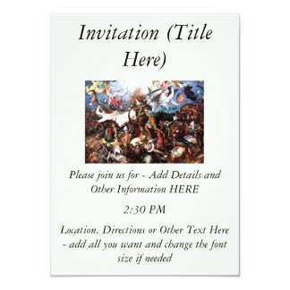 "Bruegel's ""The Fall Of The Rebel Angels"" (1562) 11 Cm X 16 Cm Invitation Card"