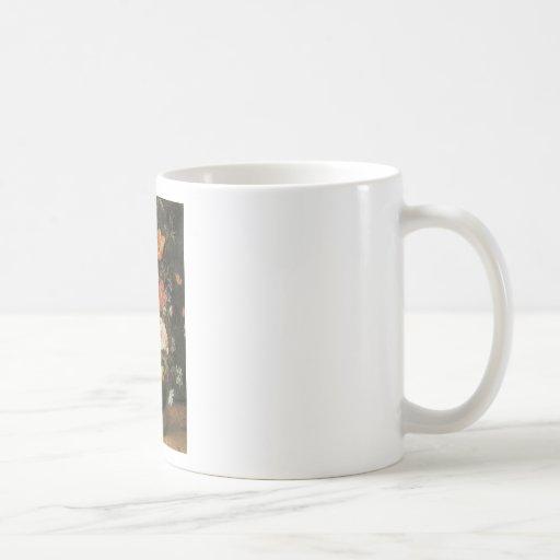 Brueghel the Younger Flowers in a Metal Vase Coffee Mug
