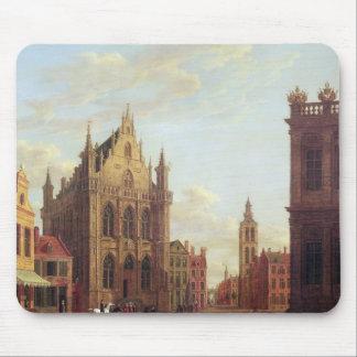 Bruges, 1824 (oil on panel) mouse mat