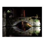 Bruges at night postcard