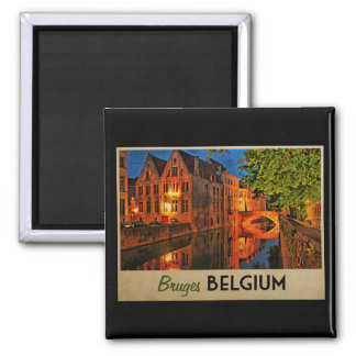 Bruges Belgium At Night Magnet