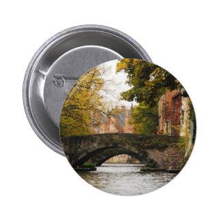Bruges, Belgium Canals 6 Cm Round Badge