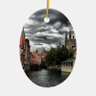 Bruges, Belgium Ceramic Oval Decoration