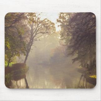 Bruges River Painting Mouse Mat