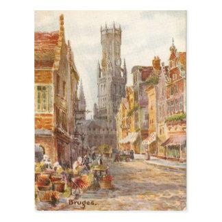Bruges, the Carrillion Tower Postcard