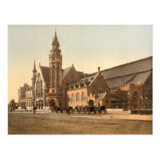 Bruges - the Station, Belgium Post Card
