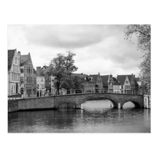 Brugge Medieval Bridge Postcard