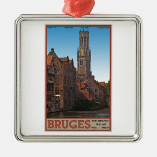Brugge - The Belfry Christmas Ornament