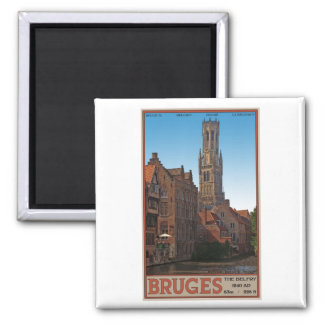 Brugge - The Belfry Square Magnet
