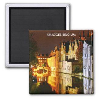 BRUGGES BELGIUM SQUARE MAGNET