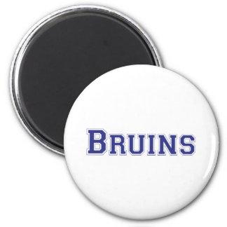 Bruins square logo in blue 6 cm round magnet