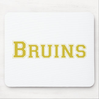 Bruins square logo in gold mouse pad