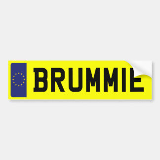 BRUMMIE Number Plate Bumper Sticker