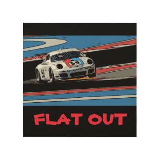 BRUMOS Porsche 911 - FLAT OUT Wood Canvas
