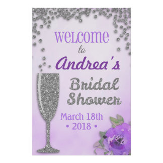Brunch and Bubbly Bridal Shower Welcome Sign