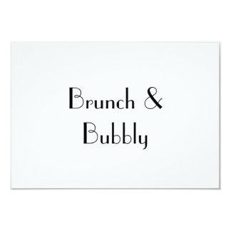 Brunch & Bubbly , RSVP card
