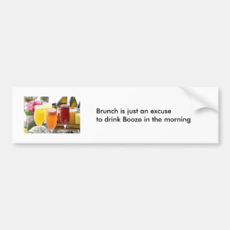 Brunch Bumper Sticker