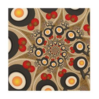 Brunch Fractal Art Funny Food, Tomatoes, Eggs