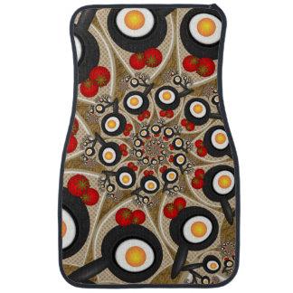 Brunch Fractal Art Funny Food, Tomatoes, Eggs Car Mat