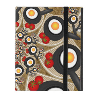 Brunch Fractal Art Funny Food, Tomatoes, Eggs iPad Case