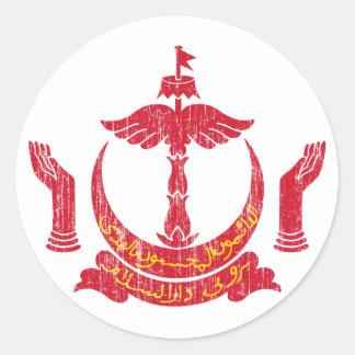 Brunei Coat Of Arms Classic Round Sticker