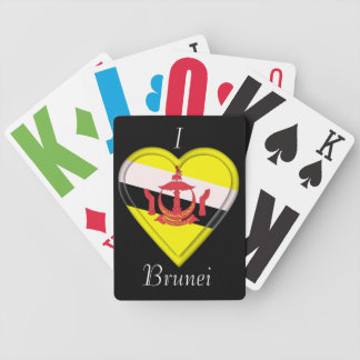Brunei flag bicycle playing cards